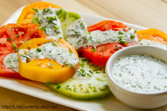 Skinny Buttermilk Ranch Dressing by Life Currents
