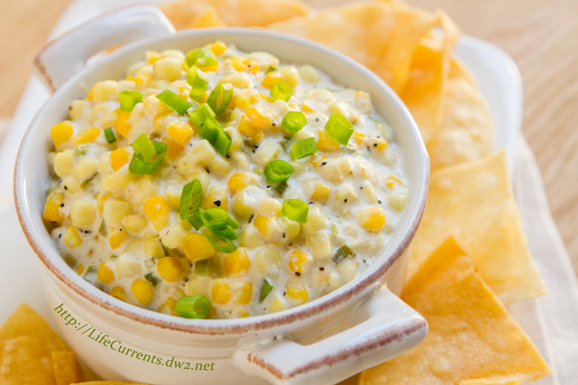 Crock Pot Corn Dip is a creamy dreamy (and easy) dip to make for your next party. Your guests won't be able to stop eating it! https://lifecurrentsblog.com