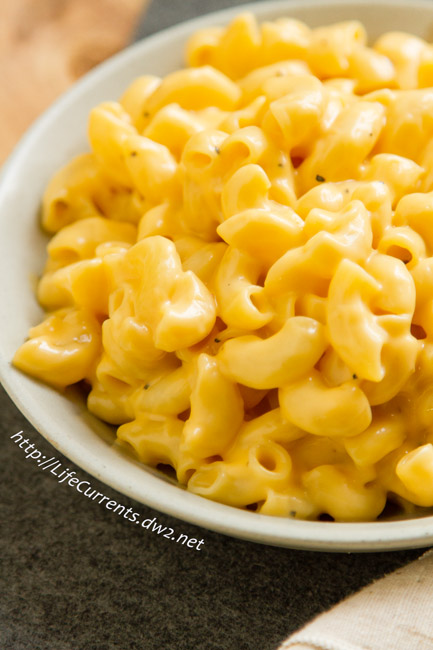 A really tasty mac & cheese that can be made ahead of time and cooks in the crock pot or slow cooker so there's no last minute work. Perfect for any holiday or potluck!