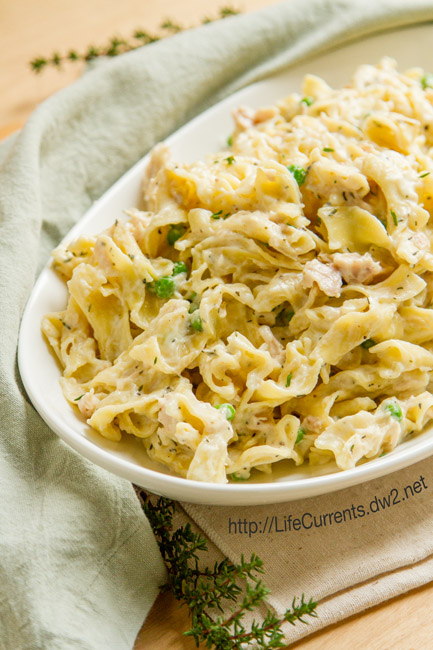 Easy Tuna Noodle Casserole by Life Currents https://lifecurrentsblog.com comfort food at its finest