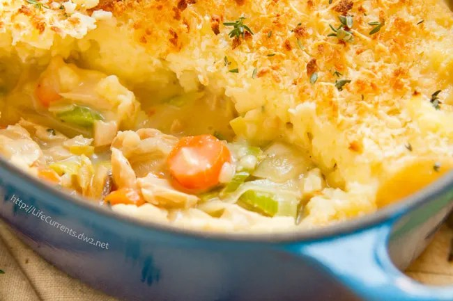 Seafood Shepherd's Pie or Fisherman's Pie made with Island Trollers Albacore Tuna is fantastic comfort food! https://lifecurrentsblog.com
