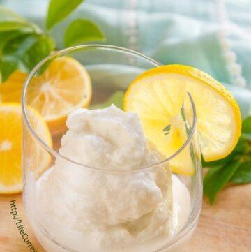 Coconut Lemon Slushie https://lifecurrentsblog.com