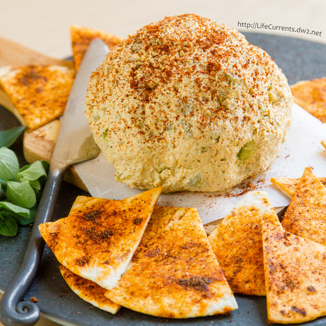 Mexican Cheese Ball with Spicy Tortilla Chips from Life Currents is a great easy to make appetizer that would be perfect for your next party or get-together!