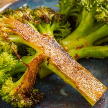 Caramelized Broccoli is a perfect side dish, and even people who don't think they like broccoli will LOVE this easy side dish!