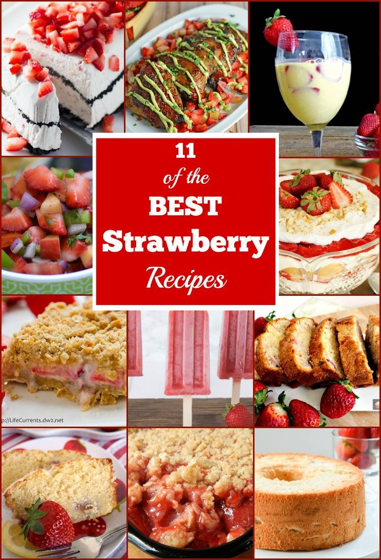Strawberry Creme Crumble Bars -- 11 of the Best Strawberry Recipes!