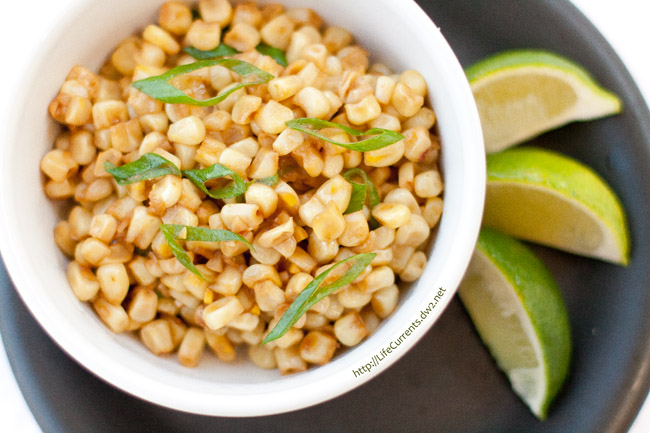 Caribbean Corn - a great tropical twist on the side dish Perfect for a summer BBQ, picnic, or pool party. Pair with some lovely grilled foods for a fun dinner.