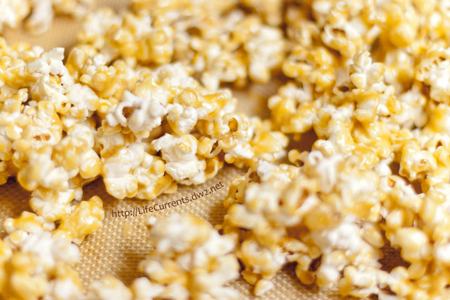 I like this recipe for caramel corn because the caramel isn't too heavy. This makes a nice light Caramel Corn with a lovely crunchy coating. It's also really inexpensive to make, but everyone I've ever served it to has been super impressed by it!