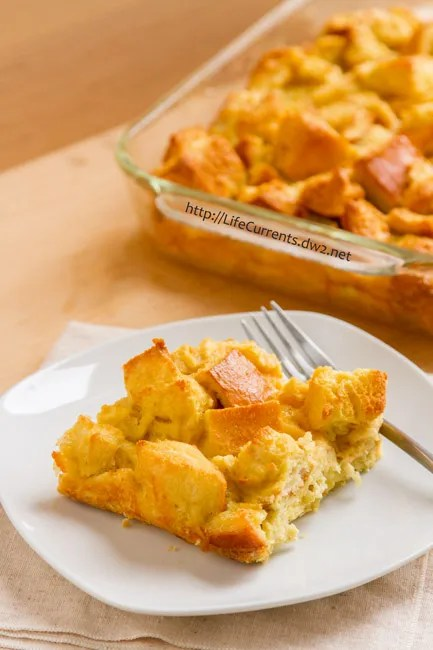 Baked French Toast Casserole by Life Currents - the perfect easy way to have delicious eggy fluffy French Toast with little work!