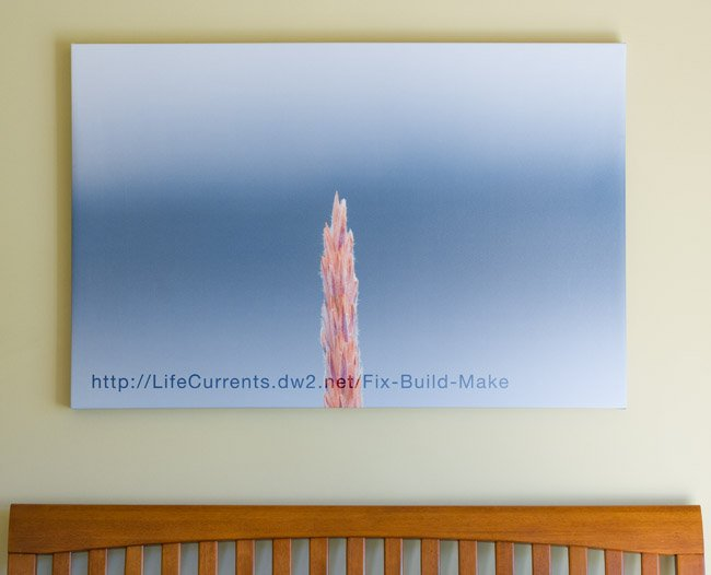 How to stretch a canvas print: We love decorating our house with our own images. This easy to follow tutorial for How To Stretch a Canvas Print will help your to make your own.