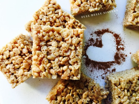 October is Tailagting Snacks Month 2016 - Brown Butter Cinnamon Churro Rice Krispie Treats