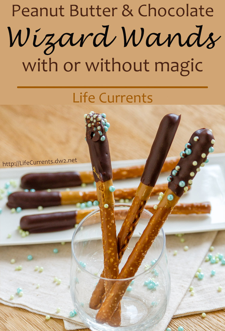 Wizard Wands {Chocolate Peanut Butter Pretzel Rods} with or without magic! They're super easy to make; your kids will love helping you with these! And, they're delicious to eat!