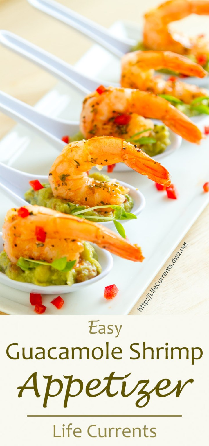 Guacamole Shrimp Appetizer Recipe with GOODFOODS Tableside Chunky Guacamole will help you share the goodness with GOODFOODS this Thanksgiving, and it's super easy to put together this impressive little appetizer #ShareTheGoodness #GoodFoods #ad