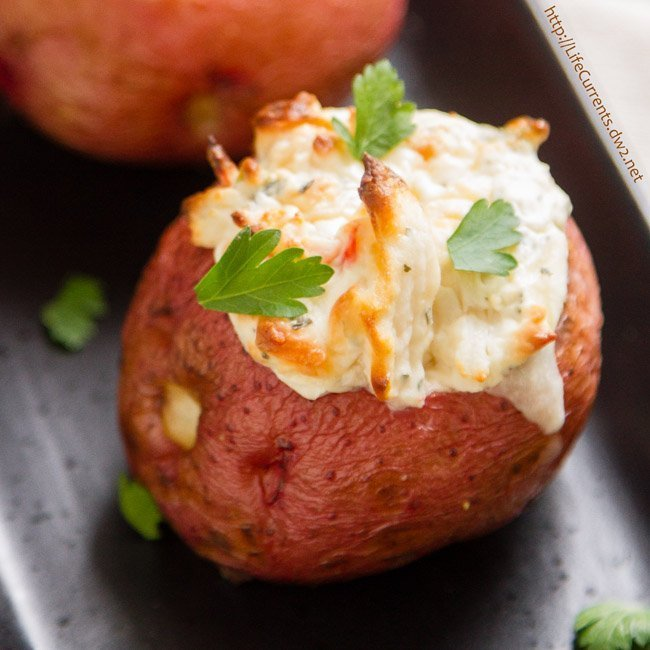 Hot Crab Dip featured recipe for Crab Stuffed Baked Potatoes