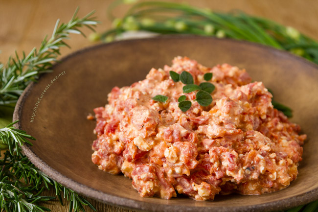 Creamy Roasted Red Pepper and Feta Dip appetizer spread recipe - I think this dip is so amazing – full of flavor and really impressive, but super easy to make. Shhh, don't tell anyone how easy it is; all they'll know is how delicious it is!