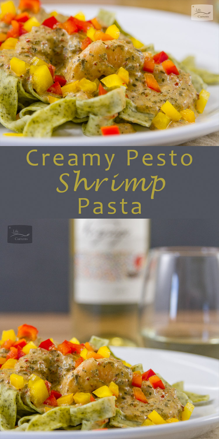 Creamy Pesto Pasta with a luscious creamy sauce that only has 3 ingredients!
