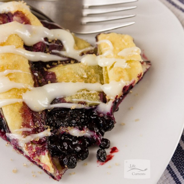 Pineapple Blueberry Fruit Salad in a Pineapple Bowl featured recipe for Blueberry Breakfast Pastry filled with cream cheese and wild blueberries