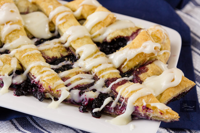 Blueberry Breakfast Pastry filled with cream cheese and yummy wild blueberries will be your family's favorite breakfast treat