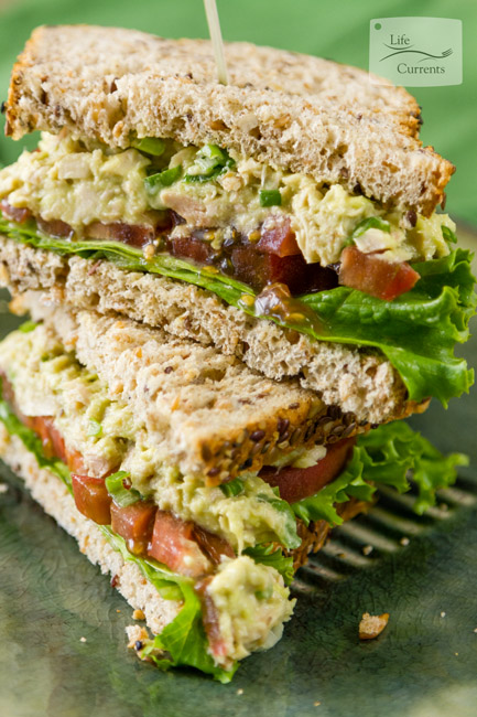 Cranberry Pecan Tuna Salad featured recipe for Avocado Tuna Salad Sandwich -- With no mayo, you can feel great about eating this heart-healthy yummy treat! Of course, having the most fantastic tuna ever really helps make it amazingly good!