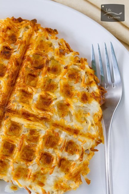 Waffle Iron Hash Browns - breakfast potatoes crispy golden brown perfect easy
