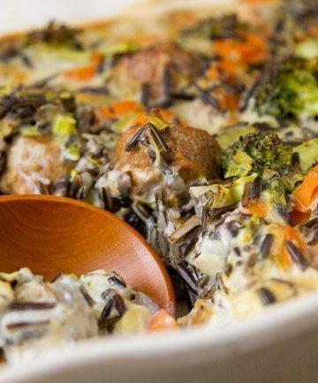 Broccoli Wild Rice Casserole Meatless, Vegetarian, casserole, oven baked,