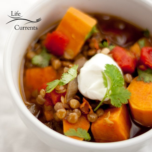 Lentil and Sweet Potato Stew also makes a great lunch the next day.
