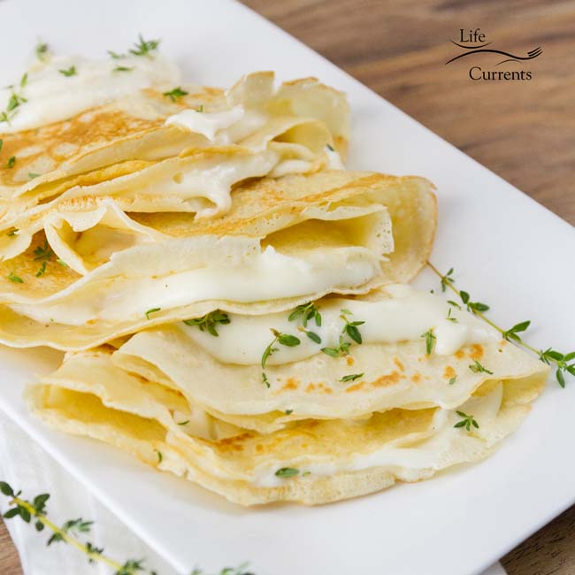 Nothing says French cuisine to me like cheese, butter, wine, and crepes. And this recipe uses all of those elements to bring you an amazingly tasty and fun meal.