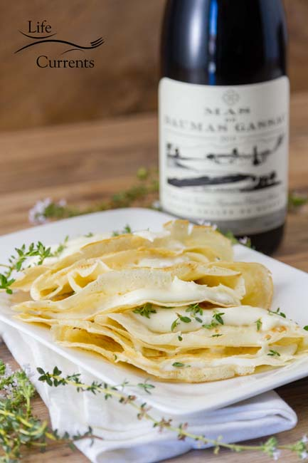 Brie Butter Sauce Crepes French wines, cheeses, and butters can be an excellent pairing to any meal. So, after you make these Brie Butter Sauce Crepes, don't forget to pour yourself a glass of wine!