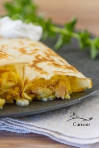Tuna, Egg, and Cheese Crepes