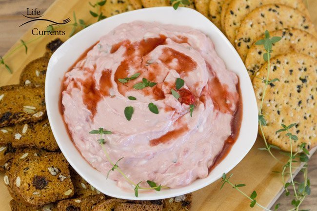 Strawberry Balsamic Goat Cheese Spread This strawberry spread is a great make ahead appetizer too.