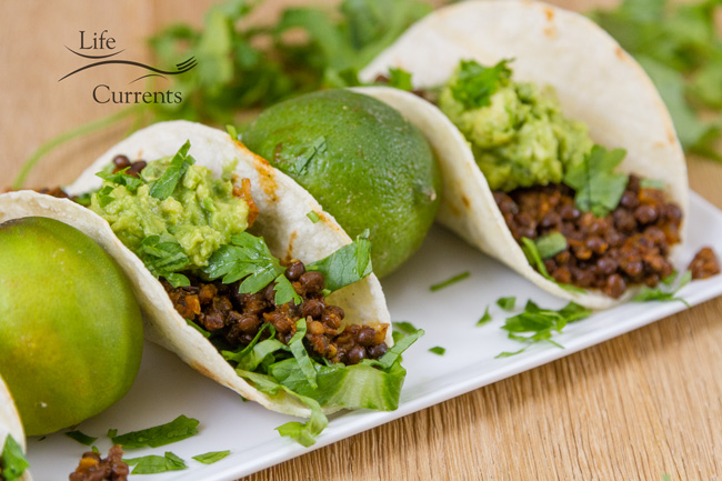Easy Lentil Tacos with Smashed Avocado recipe are so good - vegan, gluten-free, quick, budget-friendly