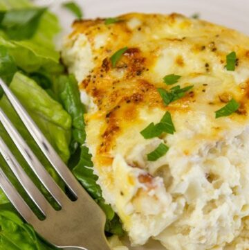 Crab and Shallot Frittata - great for breakfast, brunch, lunch, or dinner!