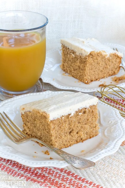 Recipes that use Apple Butter - Spiced Apple Cider Sheet Cake