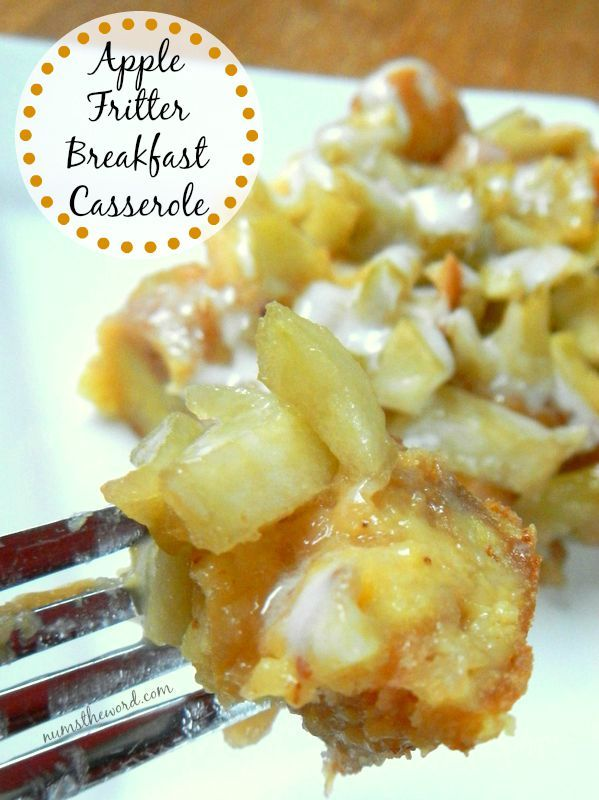 Recipes that use Apple Butter - Apple Fritter Breakfast Casserole