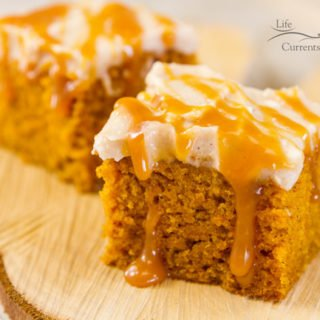 Pumpkin Spice Cake with Apple Butter Cream Cheese Frosting - a few of my friends got together and are sharing AMAZING desserts today