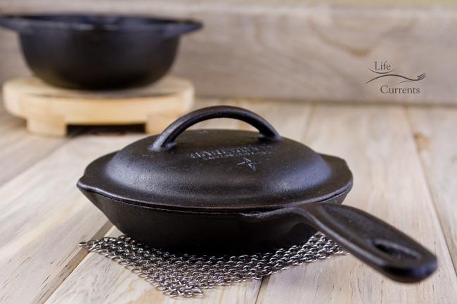 Mom's Vegetarian Pot Pie Soup: custom made Cast Iron Cooking Set