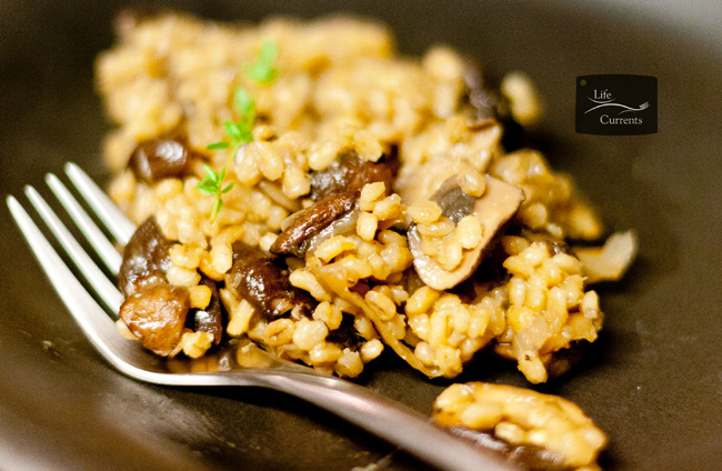 Baked Barley with Wild Mushrooms and Caramelized Onions recipe - a great holiday side dish