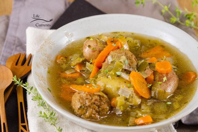 Slow Cooker Meatball and Potato Soup recipe - crock pot, soups, stews, slow cooker recipes