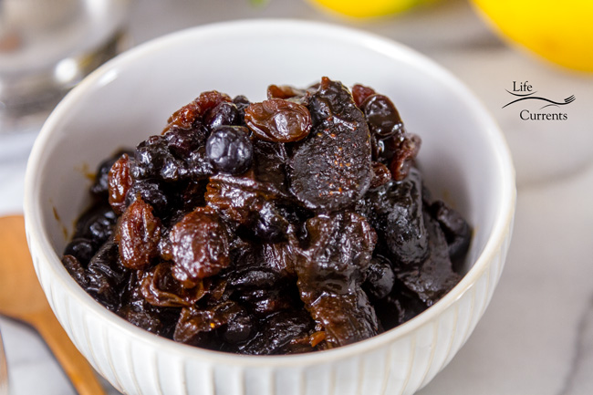 Orange Blueberry Dried Fruit Compote - filled with delicious dried fruits