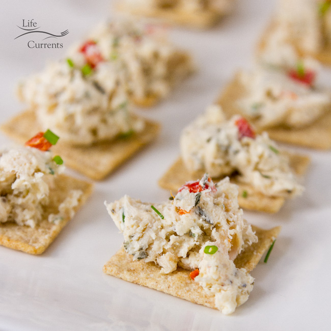 Creamy Chicken Pimento Spread -- delicious spread for crackers
