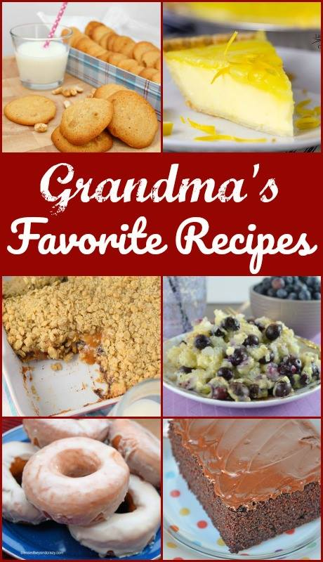Grandma's Lemon Custard Pie with Lemon Curd Topping - Grandma's Favorite Recipes Collage