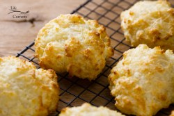 Parmesan Garlic Buttermilk Biscuits from Scratch cooling on a wire rack