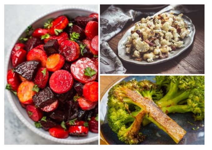 Simple Veggie Side Dishes that are perfect for the holidays beets, cauliflower, and broccoli recipes