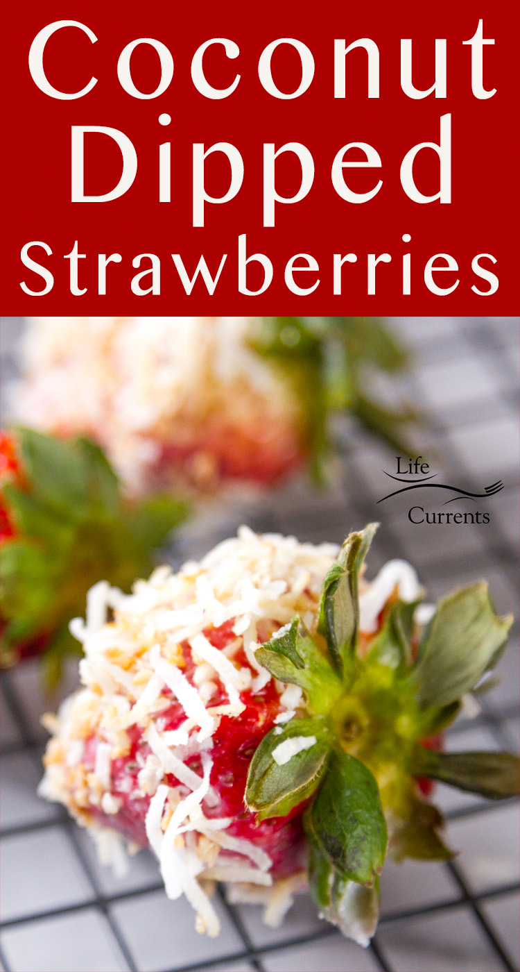 3 ingredient Coconut Dipped Strawberries - so easy, delicious, and healthy! #vegan #glutenfree #strawberry #fruit #dessert #mothersday #easter