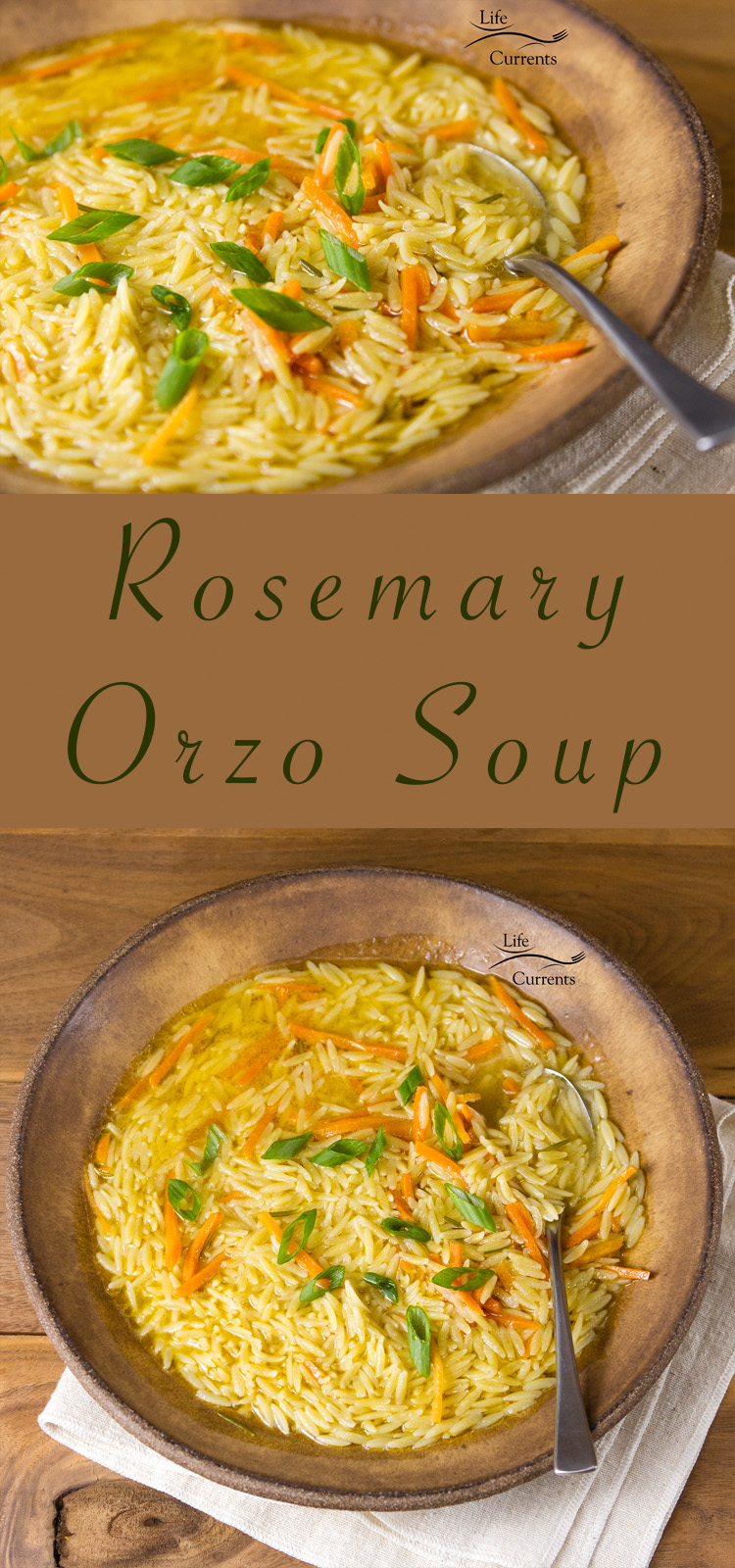 This Rosemary Orzo Soup is so easy to make, and so delicious. It's super comforting, and a bit like my version of chicken noodle soup