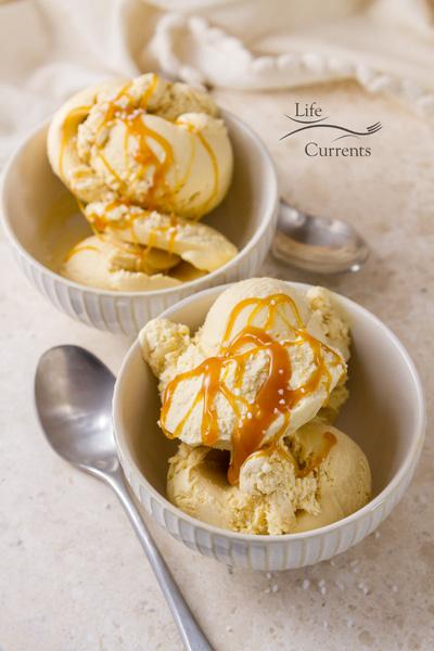 Salted Caramel Ice Cream - super premium ice cream made at home