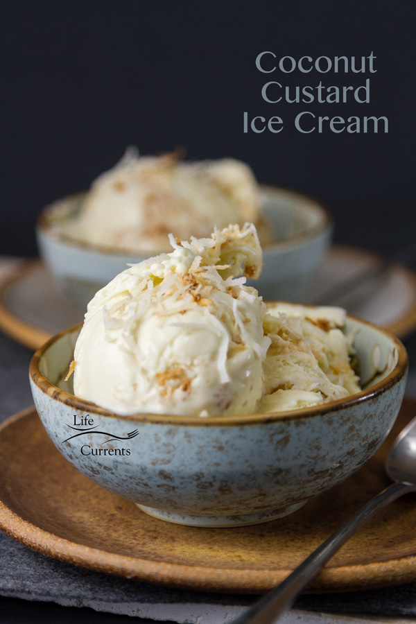 Pistachio Pudding Ice Cream featured recipe for Coconut Custard Ice Cream