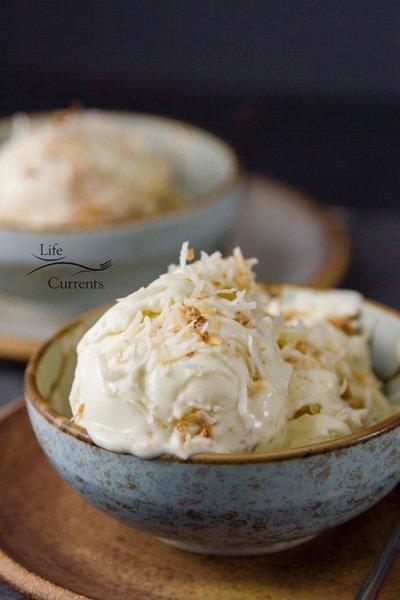 Homemade Coconut Custard Ice Cream Recipe