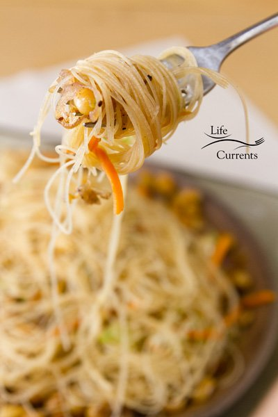 Peanut Rice Noodles - easy to make Asian inspired dinner