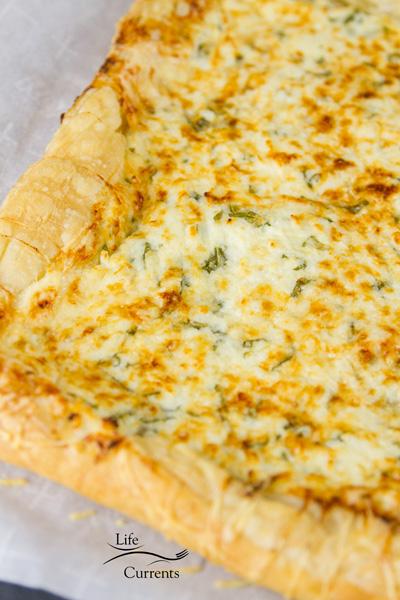Ombre Heirloom Tomato Ricotta Tart - ricotta and basil tart