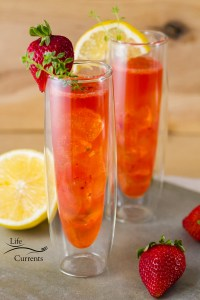 The Strawberry Scotch Cocktail is a refreshing complex and delicious summer sipping drink.